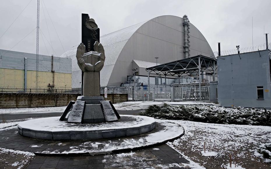 Le sarcophage du réacteur n°4 de Tchernobyl