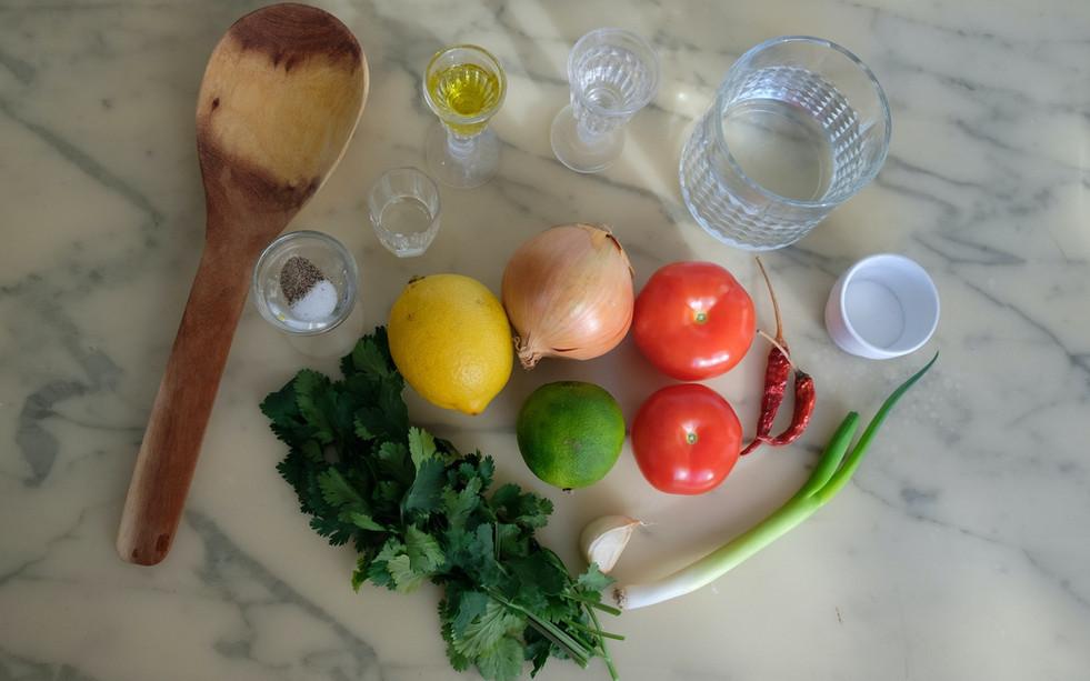 Ingrédients pour l'aji picante