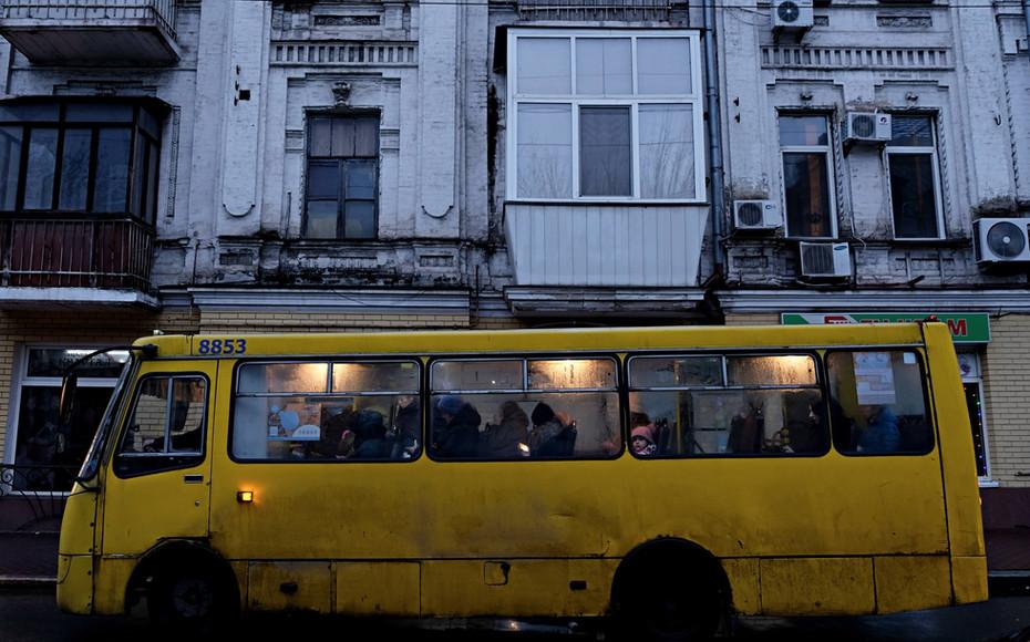 Marshrutkas, les minibus de Kiev