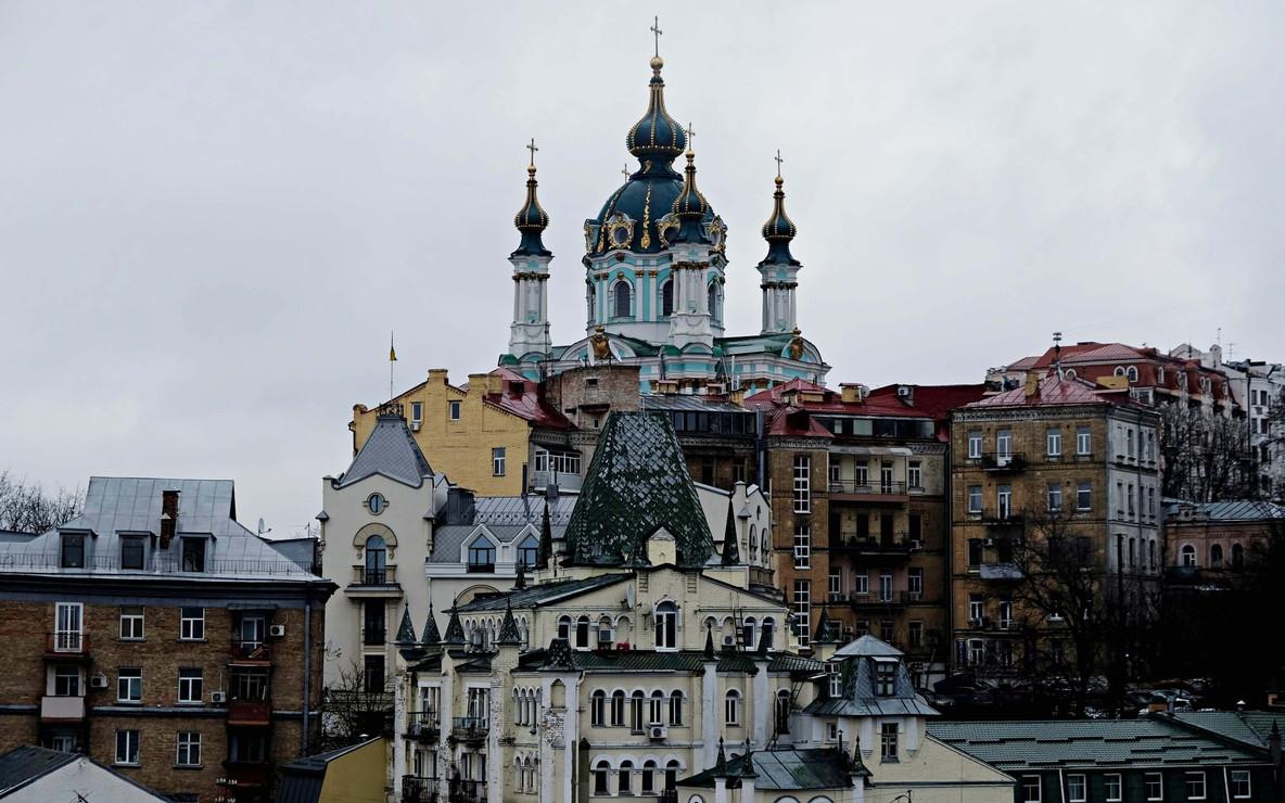 Vue de Kiev sur l'église Saint Andrew