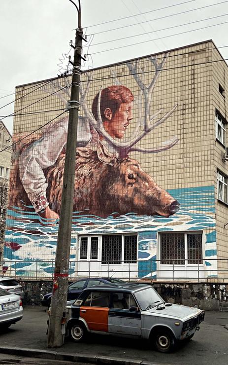 Steet art à Kiev - quartier du Podil