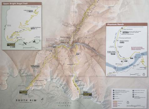 Carte des randonnées du Grand Canyon