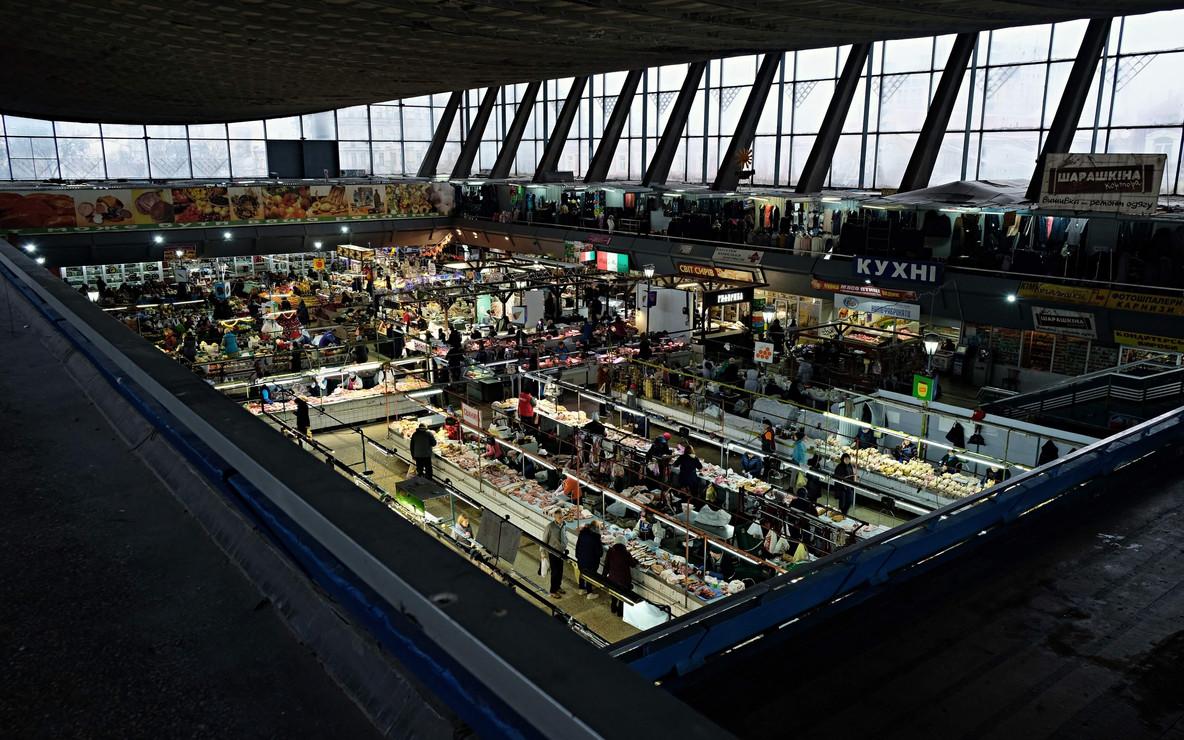 Le marché de Zhitnii Rynok à Kiev