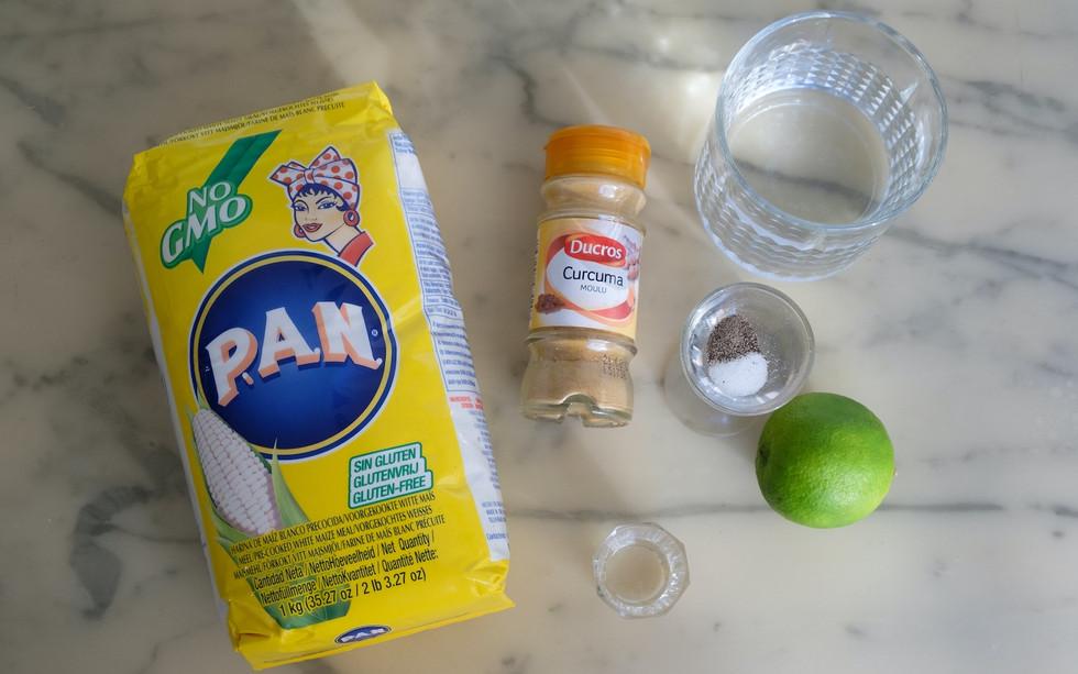 Ingrédients pour la pâte