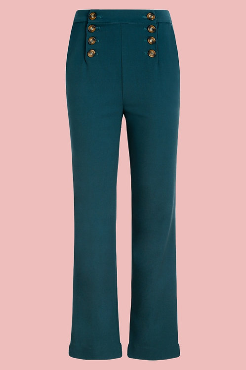 King Louie Lara Sailor Pants Dragonfly Green