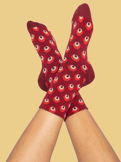 Blutsgeschwister Sensational Steps socks Red Retro