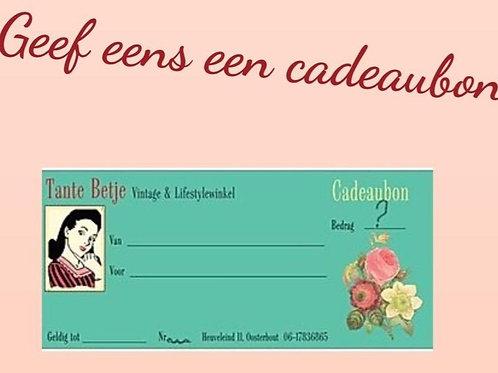 Cadeaubon Tante Betje Waarde €25,00