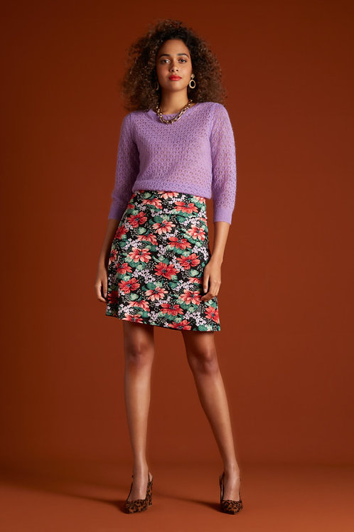 Border Skirt Pacifica Black by King Louie
