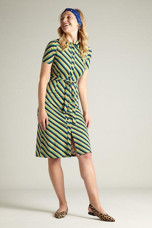 Rosie Slim Fit Dress Daze Eden Green by King Louie
