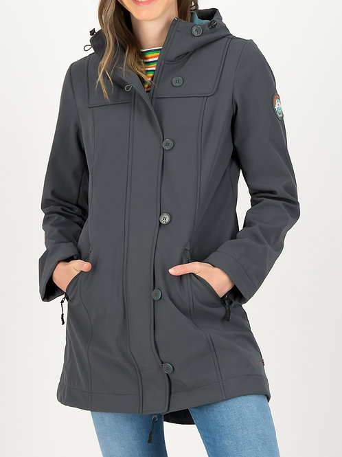 Wild Weather Long Anorak Grey by Blutsgeschwister