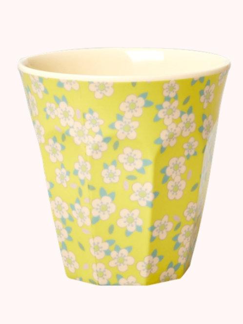 Rice beker melamine Yellow flowers