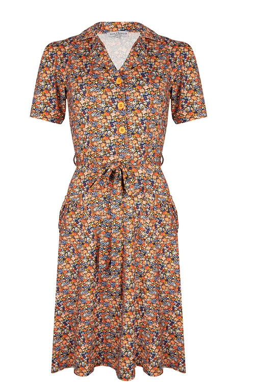 Revers Dress Tricot Monet by Very Cherry