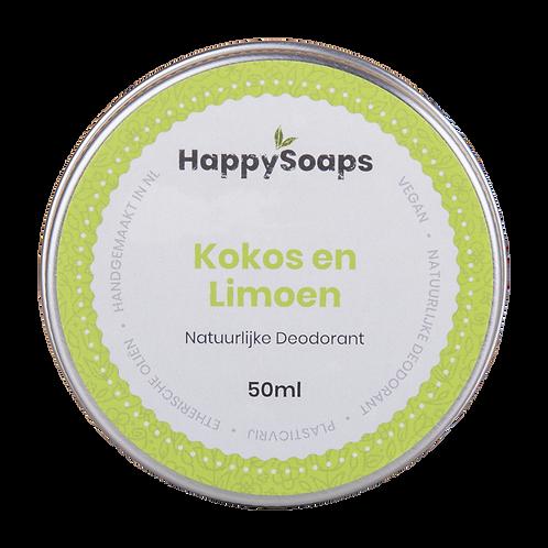 Natuurlijke Deodorant Kokos & Limoen by Happy Soaps