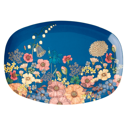 Bloemencollage plateau Melamine by Rice