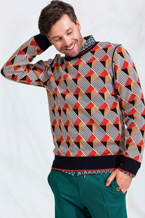 Heren sweater gebreid Say by 4 Funky Flavours
