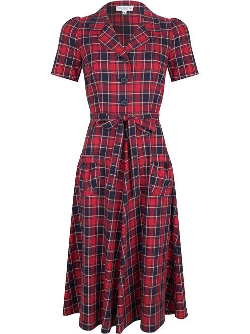 Revers Dress Midi Brittania by Very Cherry