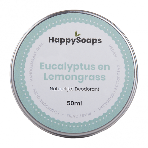 Natuurlijke deodorant Eucalyptus & Lemongrass by Happy Soaps
