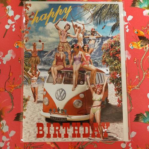 Kaart Birthday VW