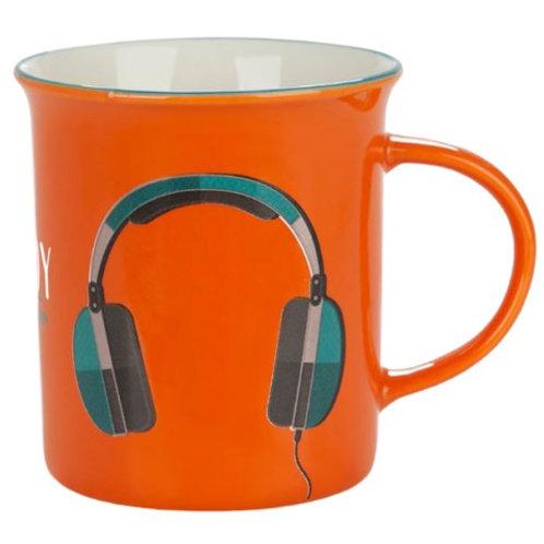 Balvi Koptelefoon Mok Oranje