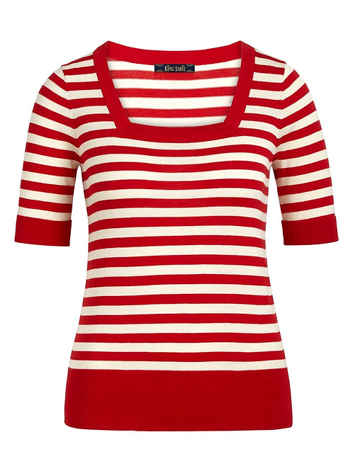 Square Top Classic Stripe Chili Red by King Louie