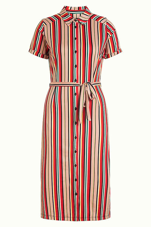 Rosie Slimfit Dress Lido Stripe by King Louie