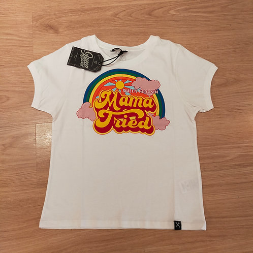 T-shirt offwhite  Mama Tried by Queen Kerosin
