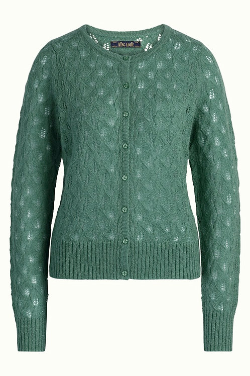 Cardi Roundneck Vallina Green by King Louie