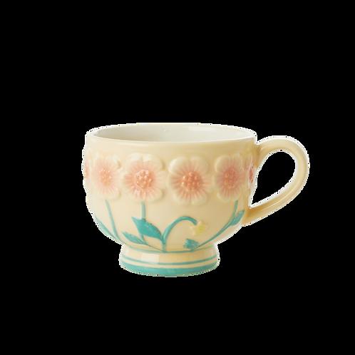 Geel Keramiek Vintage Bloemenkop by Rice