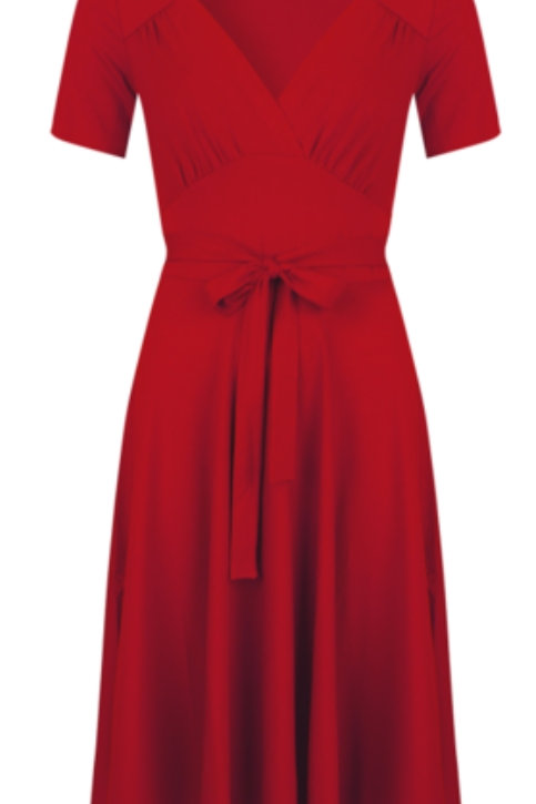Hollywood Tricot Dress Deluxe Red by Very Cherry 🍒