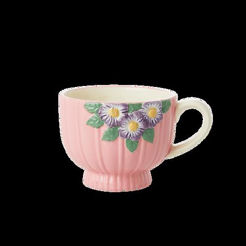 Roze Keramiek Vintage Bloemenkop by Rice