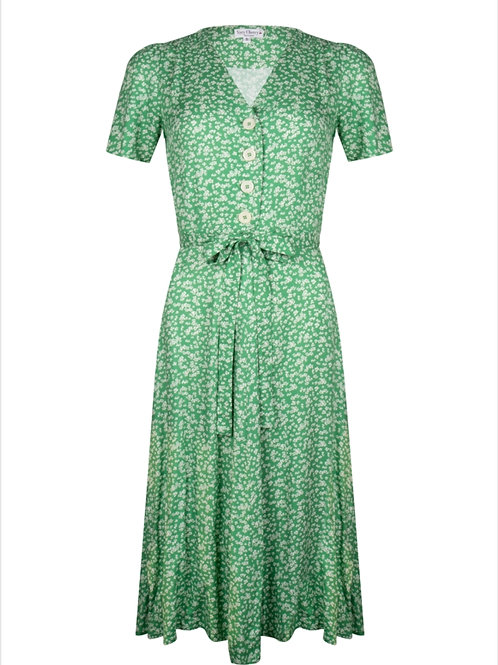 Magnolia Dress Lily Green by Very Cherry