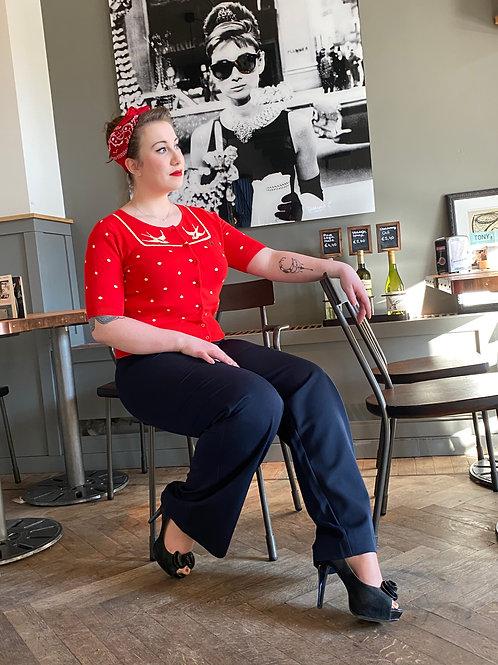 Marlene pants navy by Very Cherry