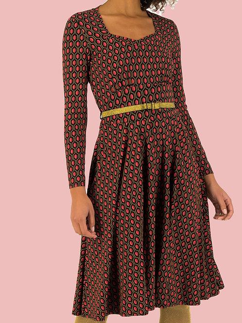 Blutsgeschwister jurk zwart roze My Autumn Heart
