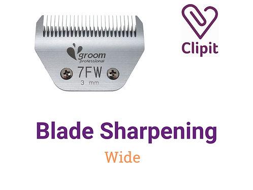 Wide Blade Sharpening