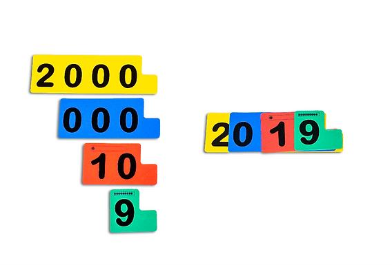Fichas Sobrepostas para Numeração (2 em 1)