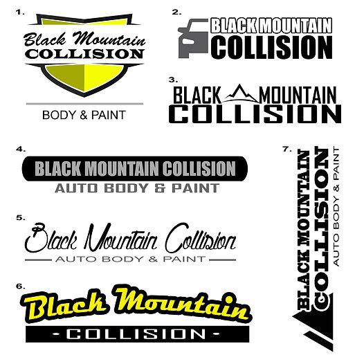 Black Mountain Collision Logo Mockups.jp