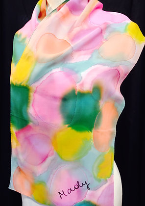 Handpainted Silk Scarf - Size:Regular