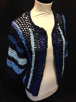 Blue Multi Crochet Kimono