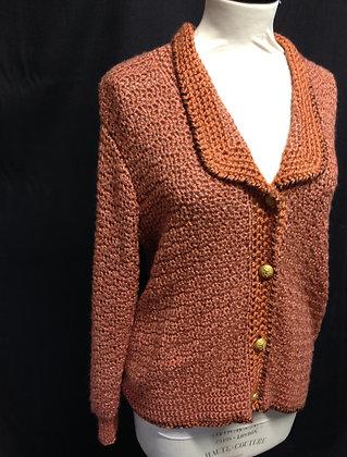 Cinnamon Crochet Cardigan
