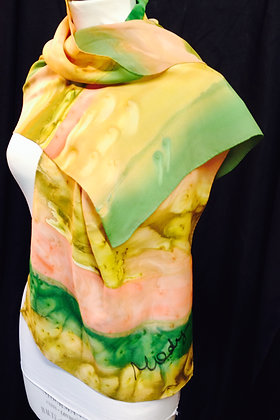 Handpainted Silk Scarf - Size: Large