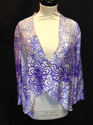 100% silk Floral Jacket