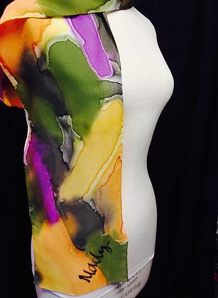 "Handpainted Silk Scarf - Size 8"" x 58"""