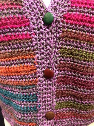 Purple/Multi waistcoat