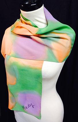 Handpainted Silk Scarf - Size: Regular