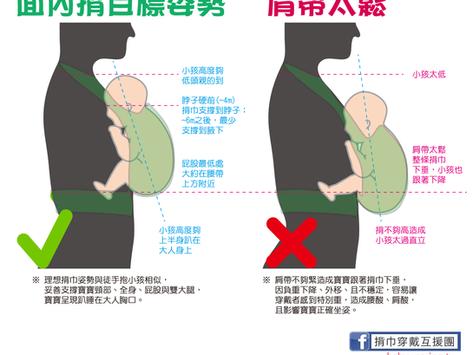 插扣揹巾指南 - 肩帶緊度的重要性