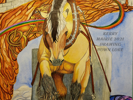 """Tarot Equus - Strength, Svadilfari"""