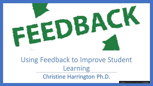 Using Feedback to Improve Student Learni