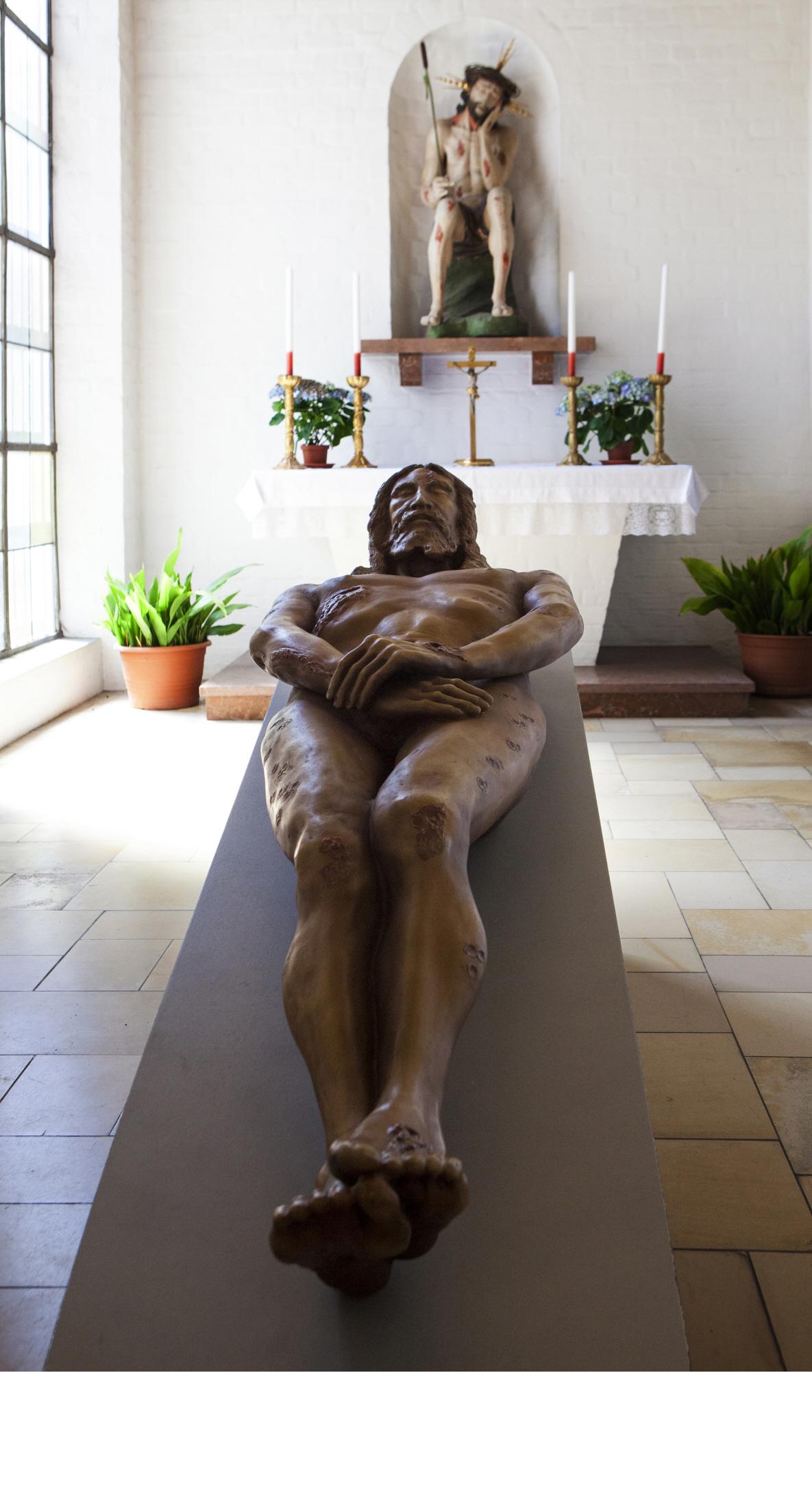 성당안에 모셔진 고통의 예수님