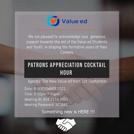 Patrons Appreciation Cocktail Hour