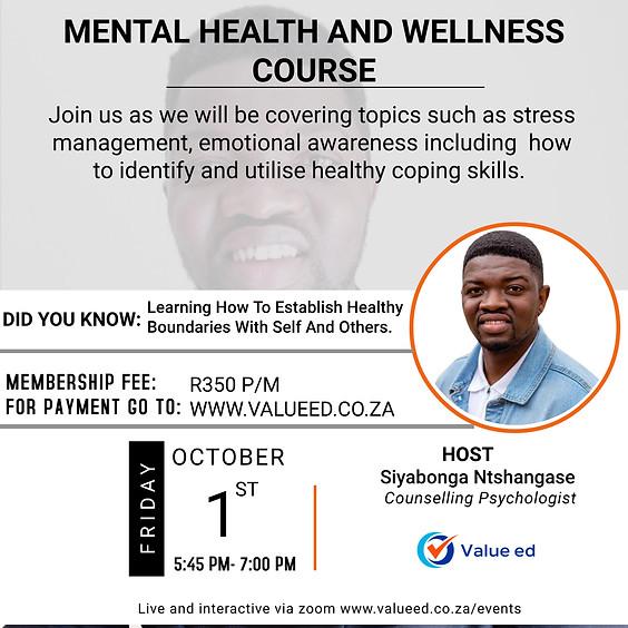 Mental Health & Wellness Course
